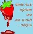 שנה טובה שוקולד עם תותים, מעטפה חמודה, תפוחים ועוד