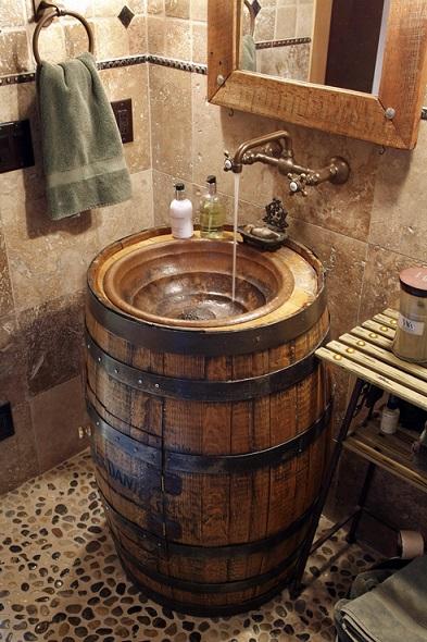 כיור לאמבטיה בצורת חבית