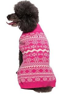 סוודר ורוד לכלב