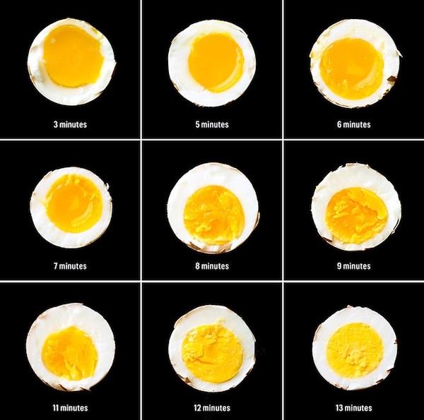 תרשים לבישול ביצים