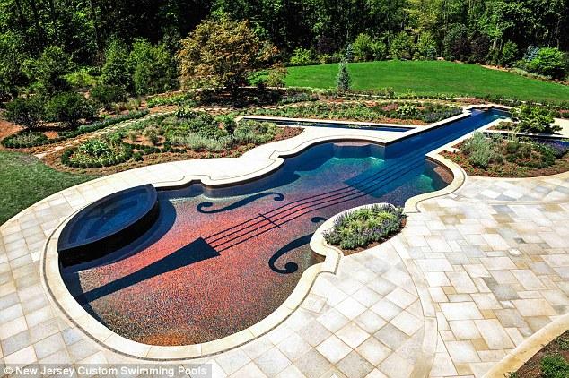 בריכה בצורת כינור של מיליונר