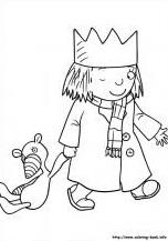 דפי צביעה הנסיכה הקטנה