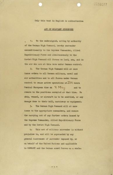 כתב הכניעה הנאצי