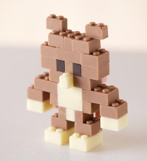 דובי מקוביות לגו שוקולד