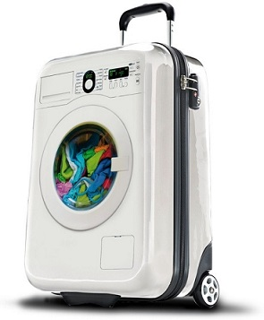 מזוודה מכונת כביסה