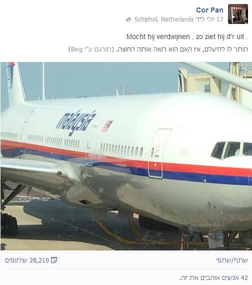 תמונת המטוס המלזי