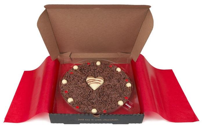 פיצת שוקולד לחג האהבה
