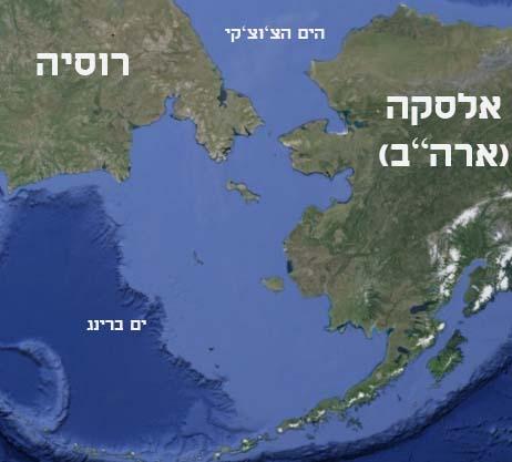 הנקודה הקרובה בין רוסיה לאלסקה הים הצ'וצ'קי וים בר