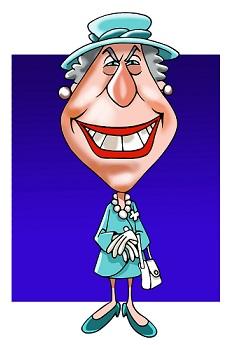 קריקטורה המלכה אליזבת'