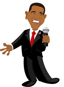 קריקטורה ברק אובמה