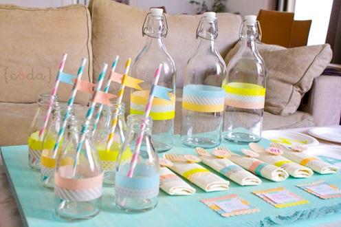 וושי טיפ על בקבוקי זכוכית
