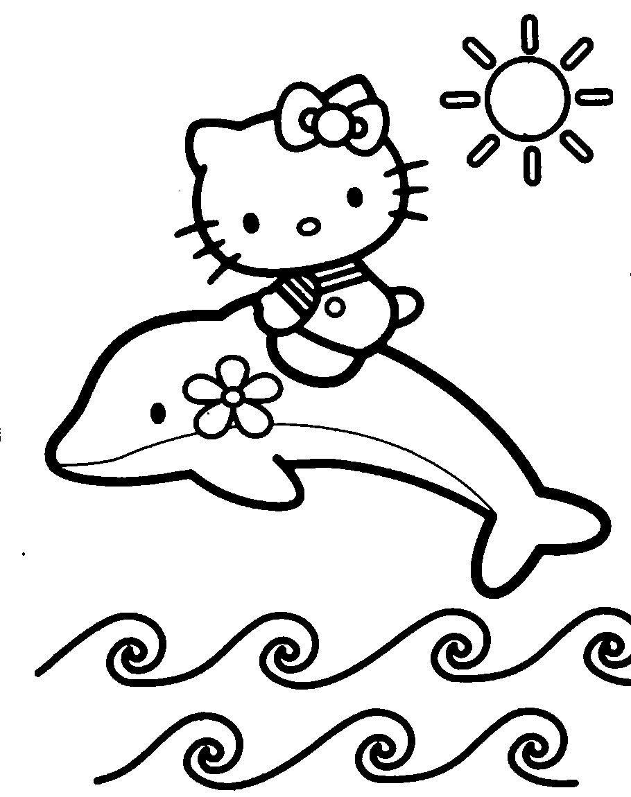 הלו קיטי על דולפין