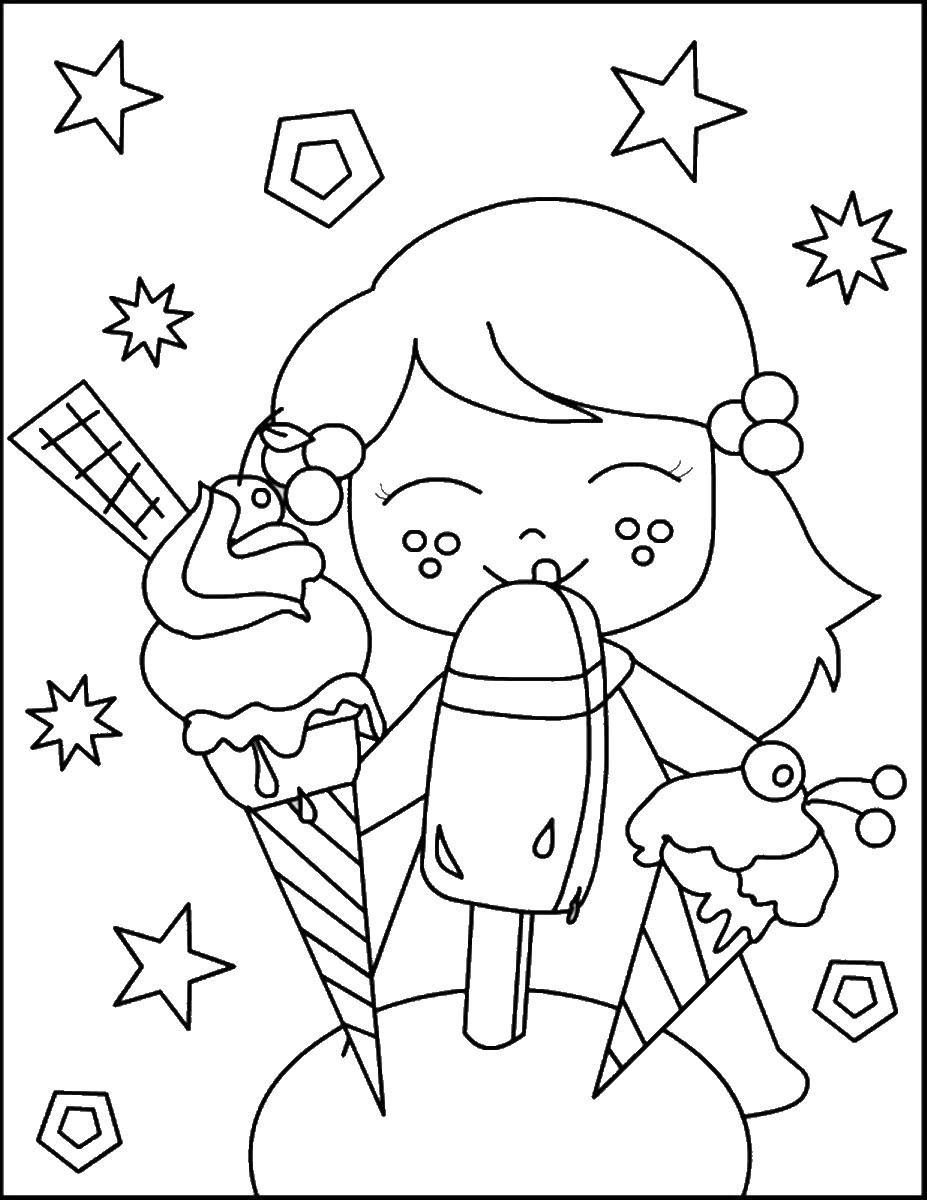 ילדה אוכלת גלידה