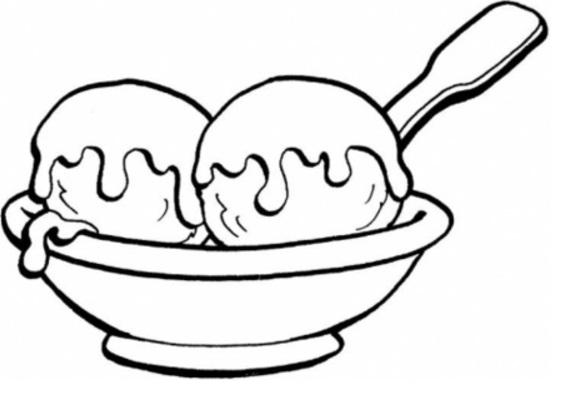 שני כדורי גלידה בצלחת