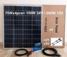 קיט סולארי 300w וואט -- 75w x4