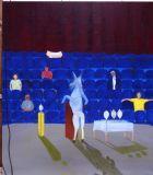 Performance,  oil on canvas, 148x170 cm