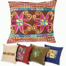 Embroidered Colored Pillows