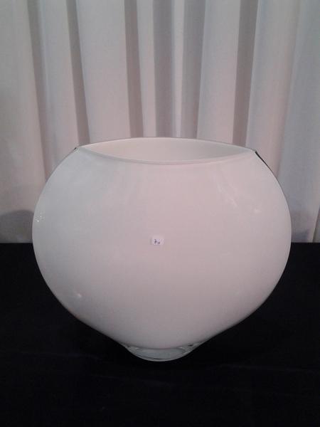 10152-כלי פיתה זכוכית לבן