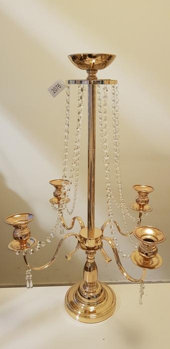קנדלברה זהב קריסטל