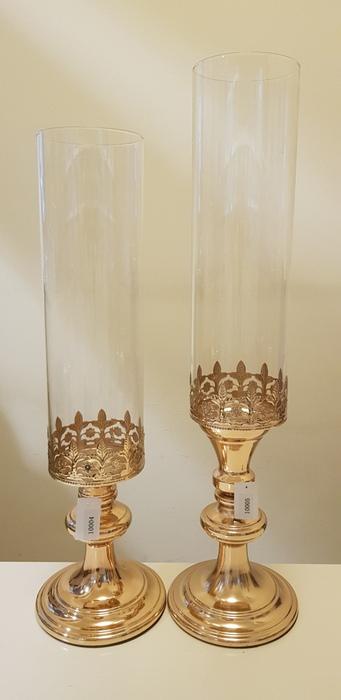 מעמדים לנרות עם זכוכית