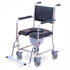 כסא שירותים רחצה ניירוסטה - מושב PU