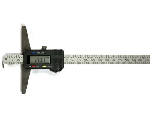 קליבר עומק דיגיטלי עם מגע 90 מעלות למדידת עומק כפתיים וחריצים תוצרת Metric