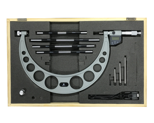 מיקרומטר דיגיטלי עם סדנים מתחלפים תוצרת Metric