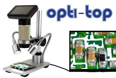 מיקרוסקופ עם מסך HD מובנה