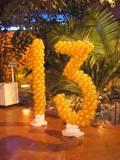 עיצוב בלונים ספרות 13 - כל מספר שזור בלונים בגובה 1.50