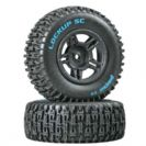 זוג צמיגי שטח Duratrax Lockup SC Tire C2 Mounted Black Rear Slash