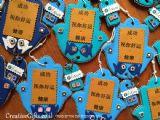חמסות עבודת יד ישראלית - מילות ברכה בסינית מתנה לאורחי חברה עסקית - 9 ס״מ, ניתן לכתוב כל כיתוב ולצרף לוגו עסקי (מתנות קידום מכירות)