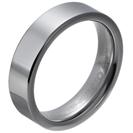 """טבעת טונגסטן לגבר מוברקת ומוחלקת 6 מ""""מ."""