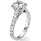 """טבעת אירוסין """"אסנת"""" מרשימה ביותר המשובצת ב 14 יהלומים אשר מהווים כ- 0.5 קרט בניקיון SI1 וצבע F."""