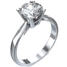 """טבעת אירוסין בעיצוב """"קתדרל"""" בעלת 4 שיניים ונוכחות."""