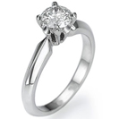 """טבעת אירוסין """"המעצבים"""" בעלת עיצוב אשר נמכר בשלל חנויות היוקרה בעולם."""