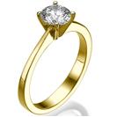 """טבעת אירוסין """"היפה"""" בעיצוב מעודן, עדין ויוקרתי."""