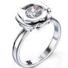 """טבעת אירוסין סוליטר """"תמר"""" בעיצוב פרח."""