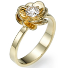 """טבעת אירוסין """"אמנון ותמר"""" בהשראת הפרח, טבעת מרשימה ובעלת ברק רב במיוחד."""