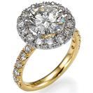 """טבעת אירוסין """"שירה"""" בעלת עיצוב מרשים במיוחד וקשה לפספוס גם מרחוק המשובצת ב 20 יהלומים במשקל של כ-0.3 קרט בצבע F וניקיון VS2."""