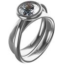 """טבעת אירוסין כפולה """"ניקול"""" זוהי טבעת המורכבת משתי טבעות מחוברות בה יחדיו."""