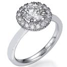 טבעת אירוסין משובצת ב כ 16-20 יהלומים במשקל של 0.24-0.3 בצבע G וניקיון SI1 .