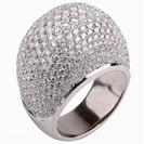 טבעת יהלומים משובצת ב421  יהלומים במשקל כולל של כ- 4 קרט בצבע F וניקיון VS2.