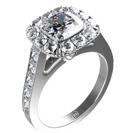 """טבעת אירוסין """"הממלכה"""" טבעת מרשימה במיוחד בעלת 40 יהלומים בצבע H וניקיון VS1."""