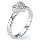 """טבעת אירוסין """"האהובה שלי"""" משובצת עם 3 יהלומים במשקל 8.5 נקודות כל אחד בסה""""כ 0.26 קרט בצבע F וניקיון SI1."""