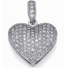 תליון יהלומים בצורת לב משובץ ב 110 יהלומים המהווים כ-0.52 קרט בצבע G וניקיון VS2.