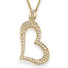 תליון יהלומים בצורת לב המשובץ ב 55 יהלומים המהווים כ-0.4 קרט בצבע F וניקיון SI1.