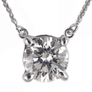 תליון יהלום סוליטר ליהלום עגול, עיצוב קלאסי ומתאים במיוחד כמתנה.