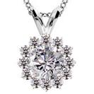תליון יהלום המשובץ ב 12 יהלומים במשקל של כ-0.21 קרט בצבע H-G וניקיון VS1-VS2.