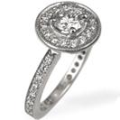 טבעת אירוסין המשובצת ב 41 יהלומים במשקל כולל של כ- 0.46 קרט בצבע H וניקיון VS2.