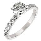 טבעת אירוסין עשירה ביהלומים, אשר מכילה 14 יהלומים עגולים במשקל כולל של כ- 0.61 קרט בצבע G וניקיון VS2.